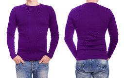 Young man with purple t shirt Stock Image