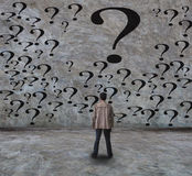 Young man and question Stock Photography