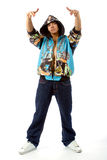 The young man in rapper clothes Royalty Free Stock Photo
