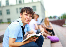 Young man read book Royalty Free Stock Image