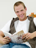 Young man reading Stock Photography