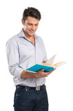 Young Man Reading A Book Stock Photography