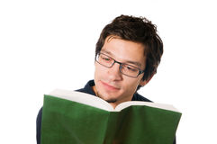 Young man reading a books Stock Image