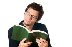 Young man reading a books Stock Photo