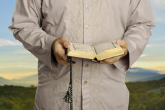 Young Man Reading The Holy Koran Stock Photos
