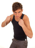 Young man ready to fight Royalty Free Stock Images