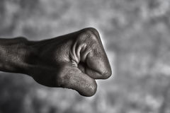 Young man ready to punch or fight Stock Images