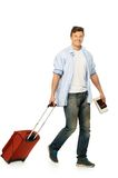 Young man ready to travel Stock Photo