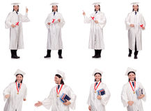 The young man ready for university graduation Stock Image