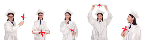 The young man ready for university graduation Royalty Free Stock Photos