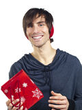 Young man with a red gift bag Stock Photo