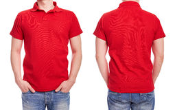 Young man with red polo shirt Stock Image