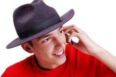 Young man with red shirt Royalty Free Stock Photos