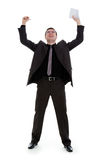 Young man rejoices. Royalty Free Stock Photos