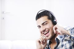 Young man in relax  listening music Stock Photo
