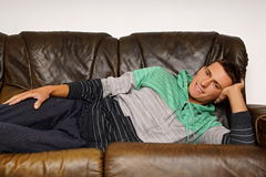 Young man relaxes Royalty Free Stock Photography