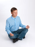 Young man relaxing Stock Image