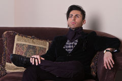 Young Man Relaxing Royalty Free Stock Images