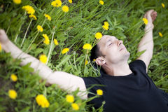 Young man relaxing Royalty Free Stock Photos