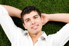 Young man relaxing Stock Photo
