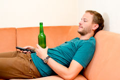 Young man is relaxing Stock Photo