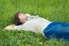 Young man resting Royalty Free Stock Photos