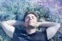 Young man resting Stock Photo