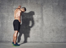 Young man resting after an active fitness training Royalty Free Stock Photos
