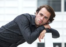 Young man resting outside Stock Photography