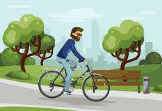 Cycling man Royalty Free Stock Images