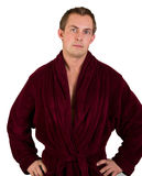 Young man in robe Stock Photography