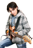 Young man rock musician stock photography
