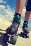 Young man roller skating Royalty Free Stock Photo