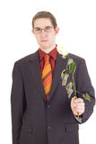 Young man with a rose Royalty Free Stock Photo