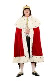 Young man in the royal costume. Isolated on white background Royalty Free Stock Images