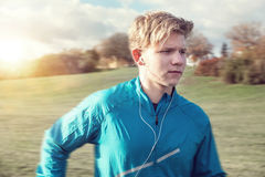 Young man runner portrait Royalty Free Stock Photos