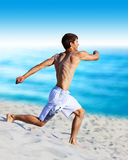 Young man running Royalty Free Stock Photo