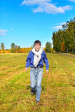 Young man running Stock Images