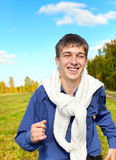 Young man running Stock Image