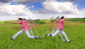 Young man running Royalty Free Stock Images