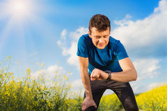 Young man running Royalty Free Stock Photography