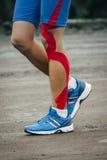 Young man runs marathon Royalty Free Stock Photography