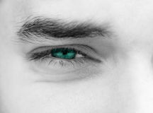 Young man's eyes Royalty Free Stock Photos