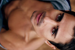 Young man's face Royalty Free Stock Image