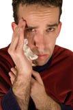 Young Man's Headache Stock Image