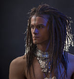 Young man's portrait. Stylish handsome Guy with Dreadlocks Royalty Free Stock Images