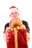 Young man  santa Stock Photos