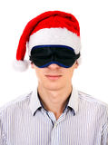 Young Man in Santa Hat Royalty Free Stock Photography