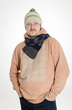 Man with scarf Stock Photo