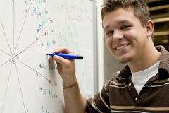 Young man at school Stock Photos